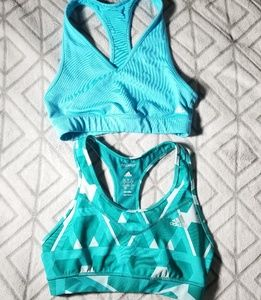Adidas raceback sports bra bundle size Small